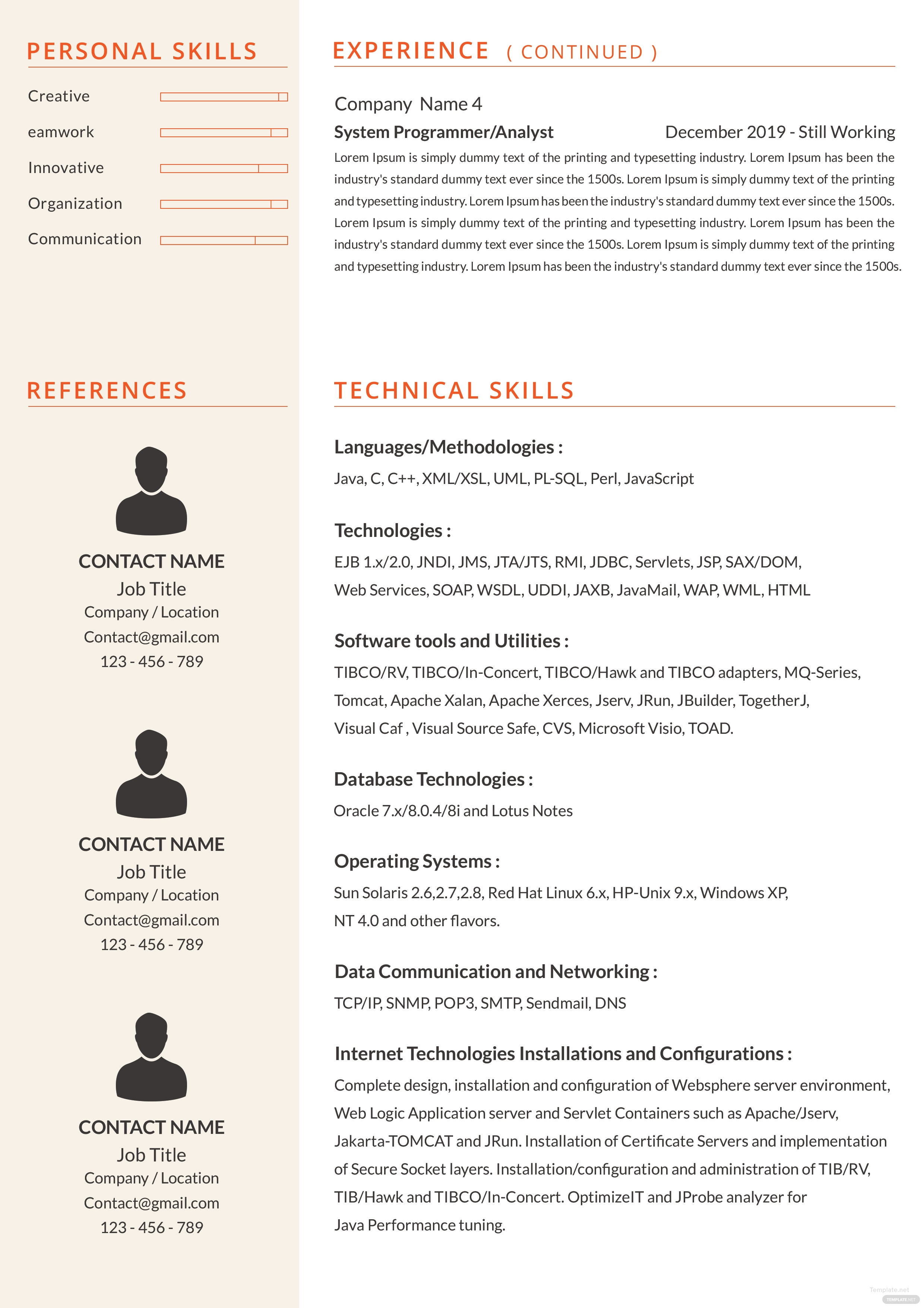 Free Senior Java Developer Resume Template Editable Senior Java Developer  Resume