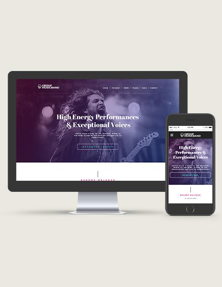Music Band WordPress ThemeTemplate Download