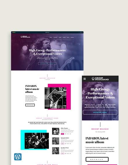 Music Band WordPress Theme/Template