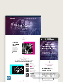 Music Band WordPress Theme/Template