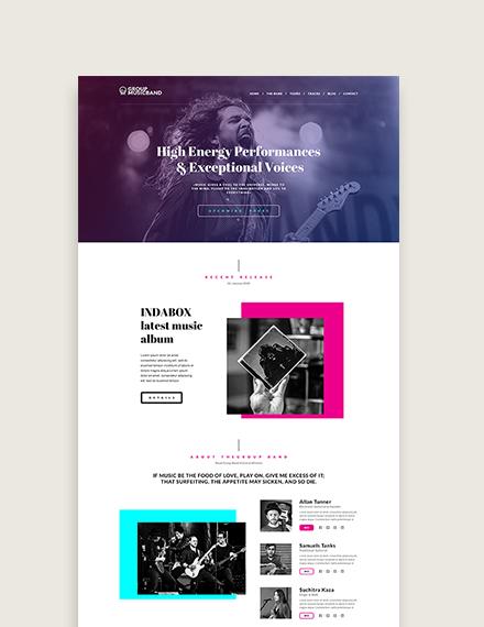 Sample Music Band WordPress ThemeTemplate