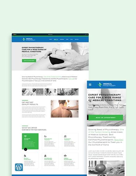 Physiotherapy WordPress Theme/Template