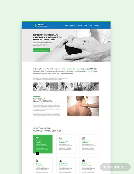 Sample Physiotherapy WordPress ThemeTemplate