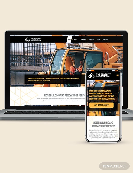 Construction Company WordPress ThemeTemplate Download