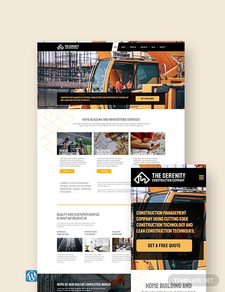 Construction Company WordPress ThemeTemplate