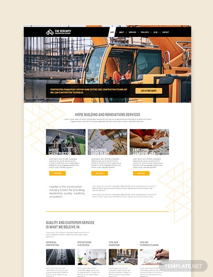 Sample Construction Company WordPress ThemeTemplate
