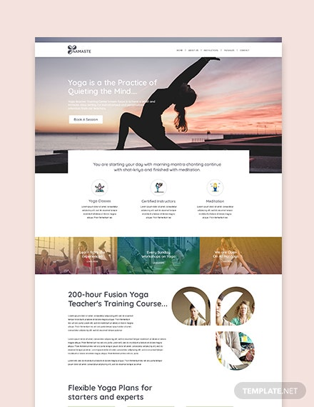 Sample Yoga Instructor WordPress ThemeTemplate