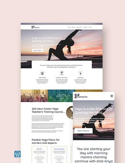 Yoga Instructor WordPress ThemeTemplate