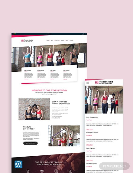 Fitness Studio WordPress Theme/Template