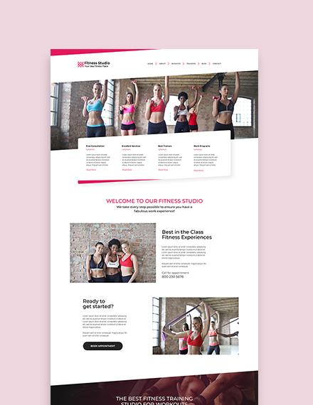 Sample Fitness Studio WordPress ThemeTemplate