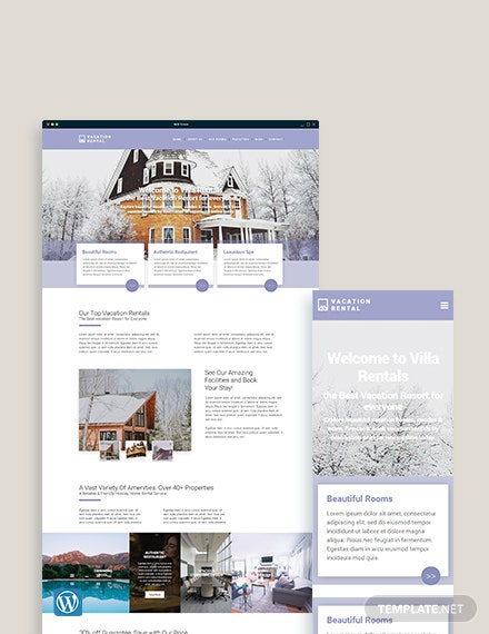 Vacation Rental WordPress Theme/Template