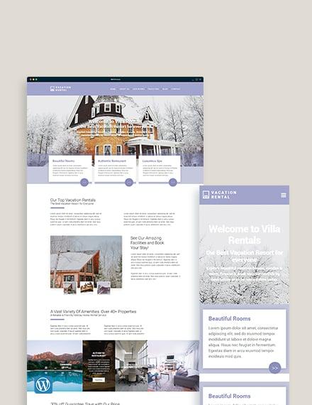 Vacation Rental WordPress Theme/Template