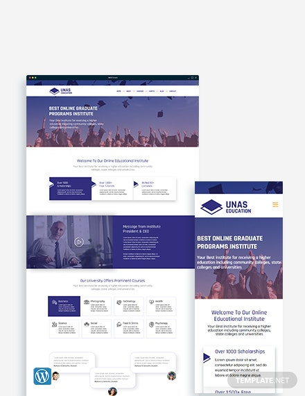 Education WordPress Theme/Template