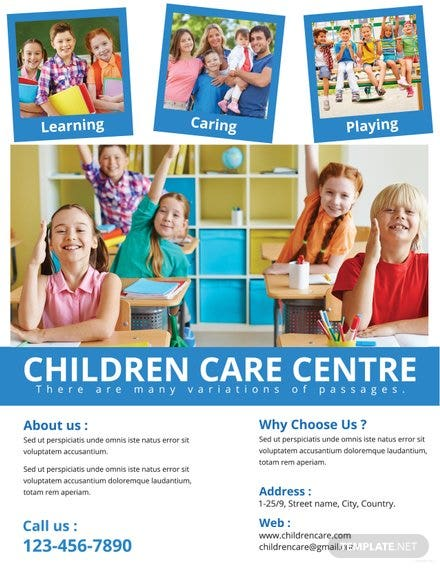 Free Dental Care Flyer Template In Adobe Photoshop Microsoft Word - Child care flyer template