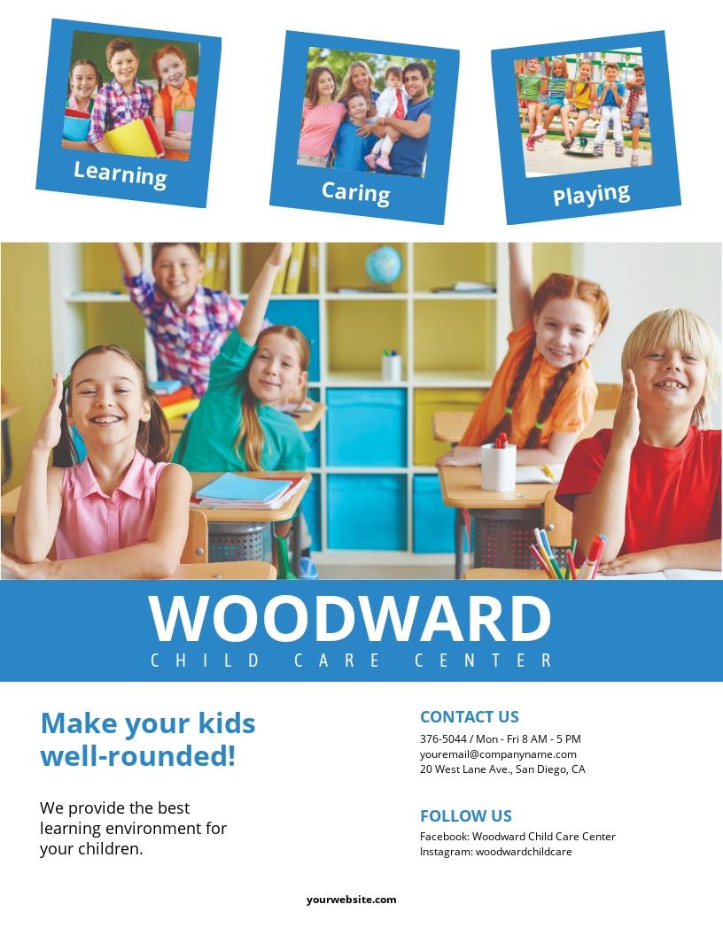Children Care Center Flyer Template