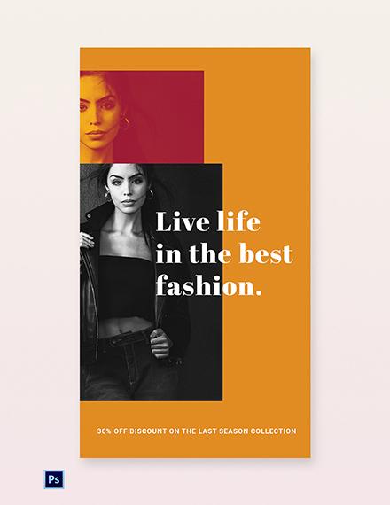 Clean Fashion Sale Whatsapp Image Template