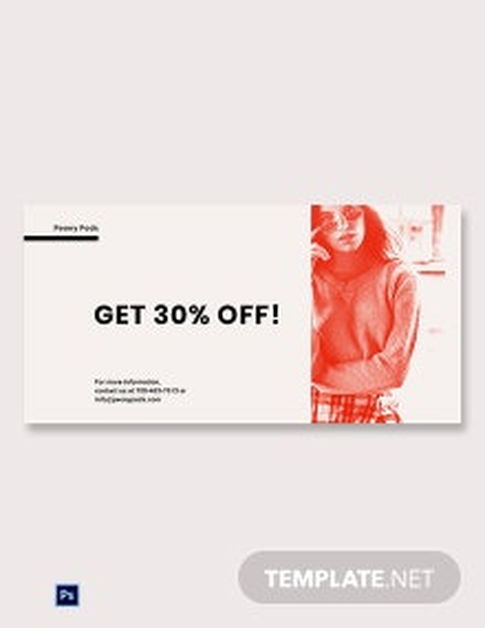 Designer Fashion Sale Blog Image Template