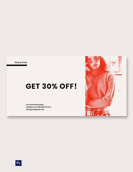 Free Designer Fashion Sale Blog Image Template