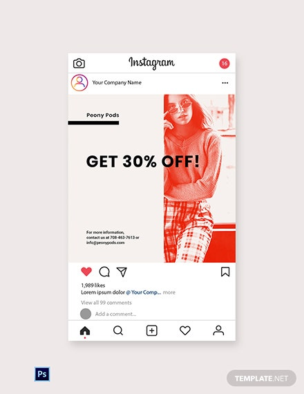 Free Designer Fashion Sale Instagram Post Template Psd Template Net