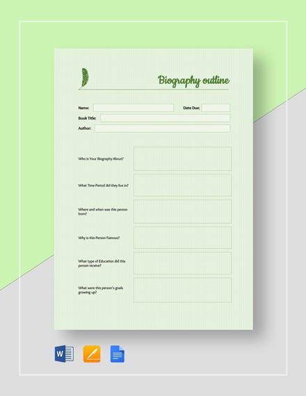 Basic Biography Outline