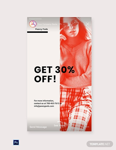 Free Designer Fashion Sale Instagram Story Template