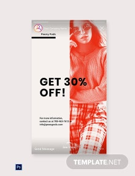 Free Designer Fashion Sale Instagram Story Template