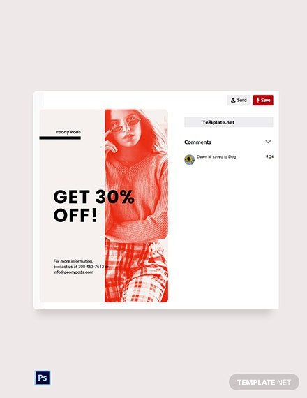 Free Designer Fashion Sale Pinterest Pin Template