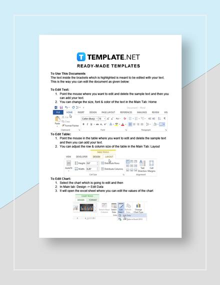 Company Quotation Format Instructions