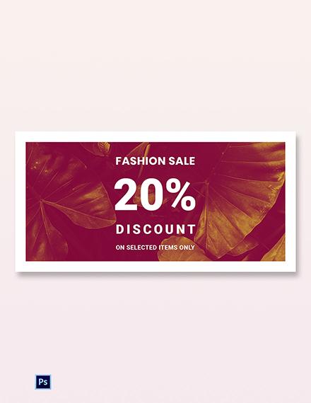 Free Editable Fashion Sale Blog Image Template