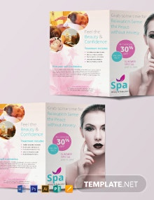Free Spa Bi-Fold Brochure Template
