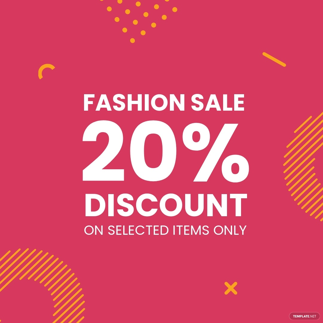 Editable Fashion Sale Instagram Post Template