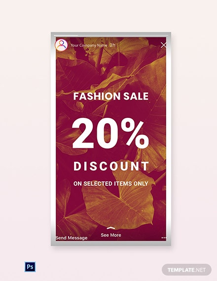 Free Editable Fashion Sale Instagram Story Template