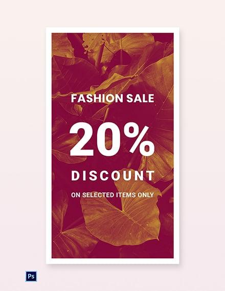 Editable Fashion Sale Whatsapp Image Template