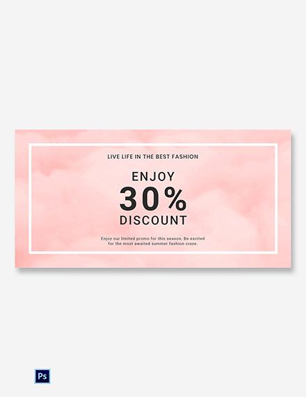 Free Seasonal Fashion Sale Blog Image Template