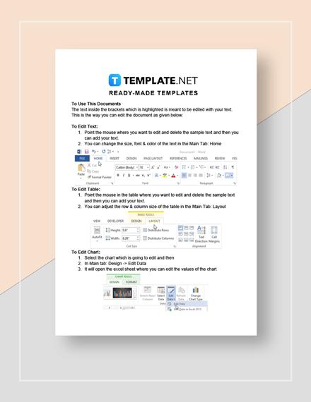 Sample Preventive Maintenance Schedule Instructions