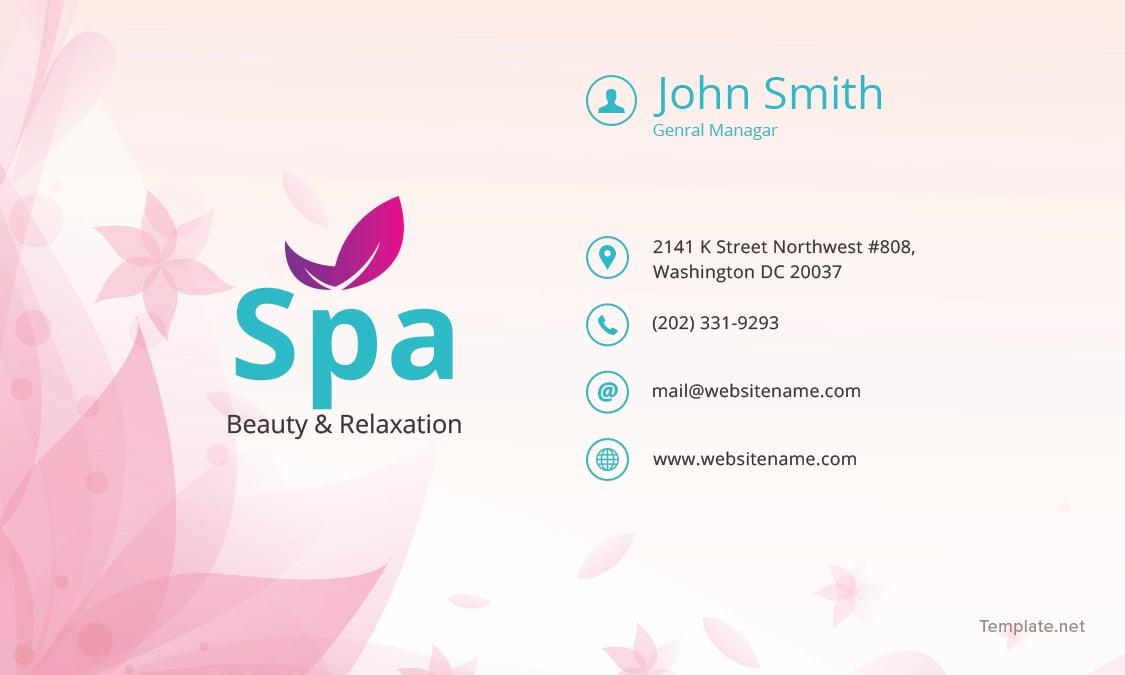 Free Spa Business Card Template Adobe Photoshop, Illustrator ...