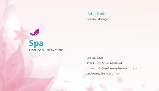 Spa Business Card Template.jpe