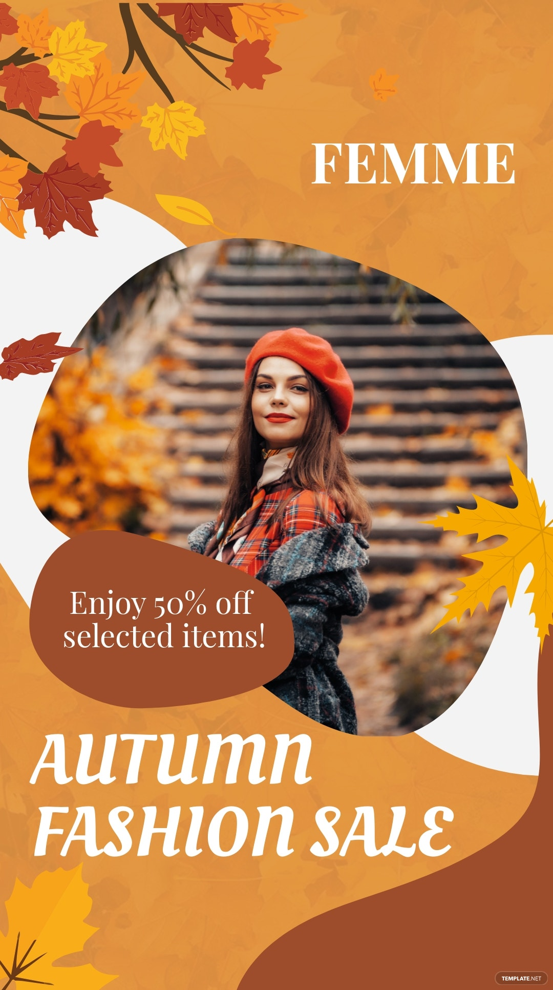 Seasonal Fashion Sale Instagram Story Template [Free JPG] - PSD