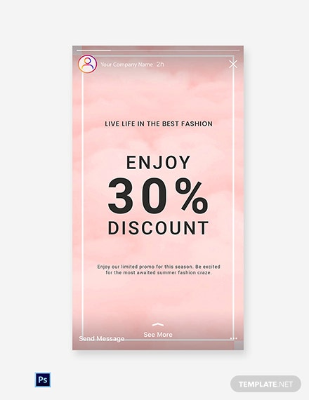 Free Seasonal Fashion Sale Instagram Story Template