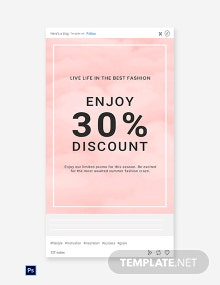Free Seasonal Fashion Sale Tumblr Post Template