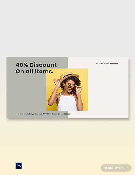 Free Trendy Fashion Sale Blog Post Template