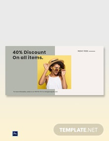 Trendy Fashion Sale Blog Post Template