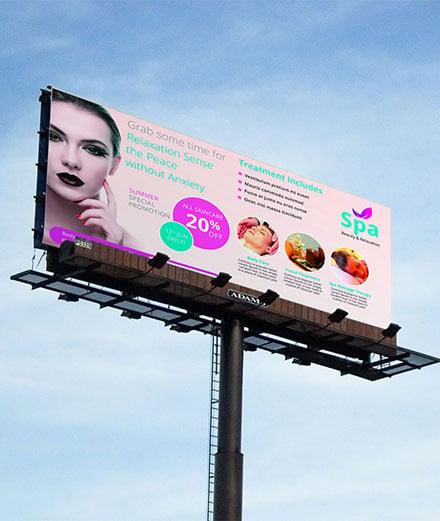 Free Spa Billboard Banner Template