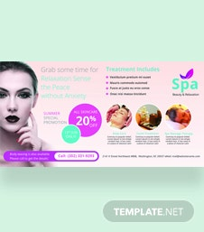 Free Spa Billboard Banner Template