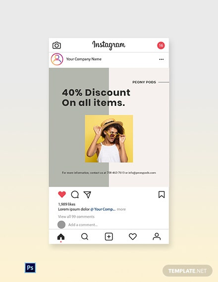 Free Trendy Fashion Sale Instagram Post Template