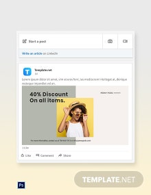 Free Trendy Fashion Sale LinkedIn Blog Post Template