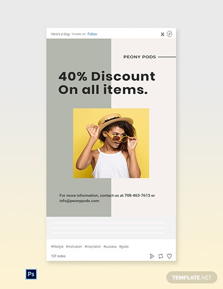 Free Trendy Fashion Sale Tumblr Post Template