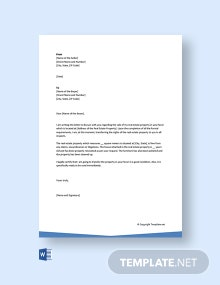 Free Letter Of Transfer Of Ownership Of Property