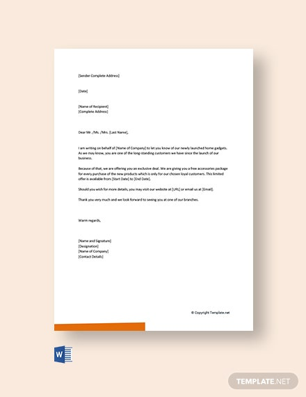 Free Small Business Marketing Letter