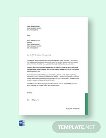 Free Vacation Leave Letter For Company